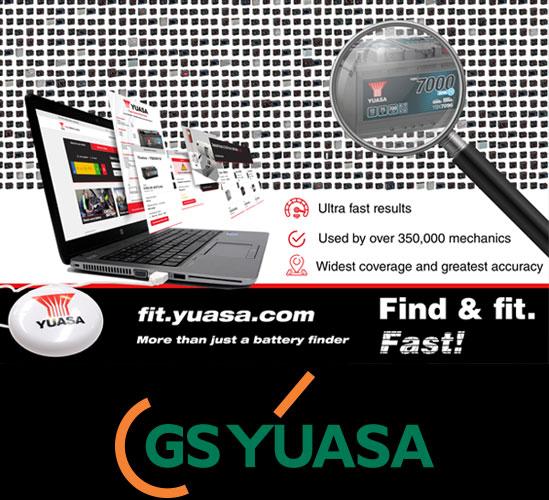 GS YUASA: Ricerca Online della batteria corretta