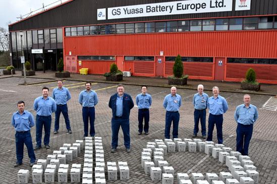 GS Yuasa celebra 40 anni di produzione di batterie nel Galles meridionale.