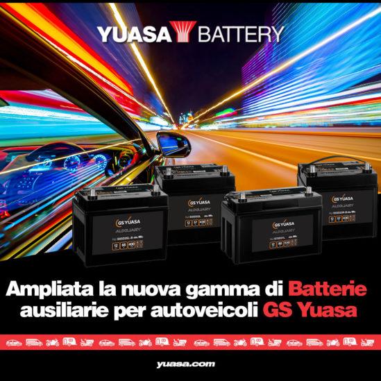 Ampliata la nuova gamma di batterie ausiliarie per autoveicoli GS Yuasa
